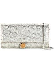 Jimmy Choo Mandie Wallet Crossbody Bag Metallic