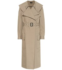 Joseph Damon Oversized Trench Coat Brown