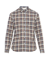 Acne Studios Isherwood Checked Cotton Blend Shirt