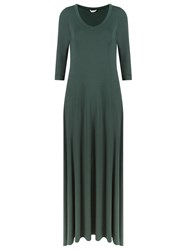 Lygia And Nanny V Neck Long Evening Dress Green