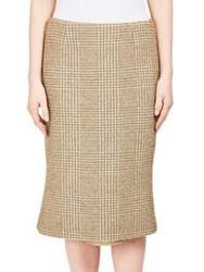 Simone Rocha Knee Length Textured Skirt Khaki