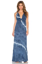 Loveshackfancy Braided Love Maxi Dress Blue