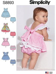 Simplicity Baby Dress And Bottoms Sewing Pattern 8893