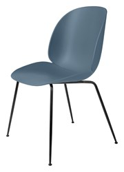 Gubi Beetle Dining Chair Black Blue Grey