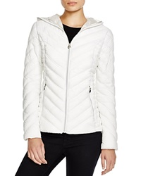 Laundry By Shelli Segal Hooded Short Packable Puffer Jacket Sugar