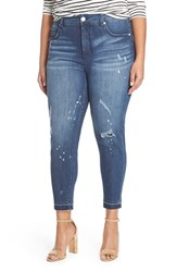 Plus Size Women's Melissa Mccarthy Seven7 Distressed High Rise Pencil Jeans Hero