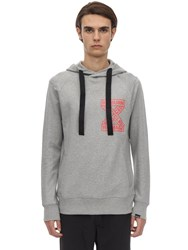 Christopher Raeburn Logo Cotton Jersey Hoodie Grey