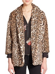 The Kooples Faux Fur Leopard Print Jacket