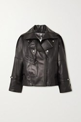 3.1 Phillip Lim Belted Leather Biker Jacket Black
