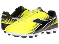 Diadora Mago R Lpu Yellow Flourescent Dd Black Soccer Shoes
