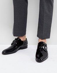 Zign Patent Monk Shoes In Black