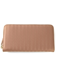 Zanellato Wavy Textured Wallet Nude And Neutrals