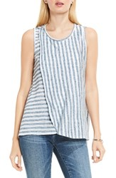 Vince Camuto Women's Two By Sheer Stripe Faux Wrap Tank