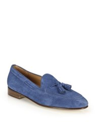 Ralph Lauren Drop Tassel Leather Loafers Ocean
