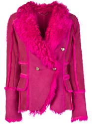 Desa 1972 Double Breasted Jacket Pink And Purple