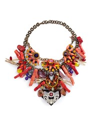 Anabela Chan 'Amphitrite' Embellished Cluster Bib Necklace Multi Colour