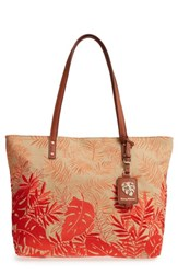 Tommy Bahama Palm Beach Tote Orange Coral Combo