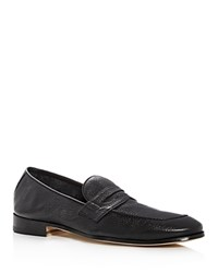 Bloomingdale's The Store At Leather Apron Toe Penny Loafers 100 Exclusive Black