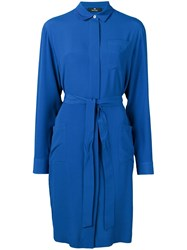 Paul Smith Ps Short Shirt Dress Blue