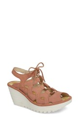 Fly London Yexa Sandal Rose Cupido Leather