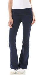 Solow Jersey Fold Over Pants Navy