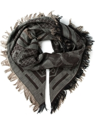 Philipp Plein 'Stars' Scarf Brown