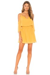 Bcbgeneration Cold Shoulder Dress Yellow
