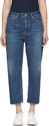Chimala Blue Wide Tapered Selvedge Denim Jeans