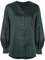 Kuho V Neck Shirt Green