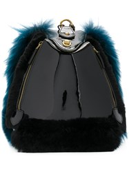 Mr And Mrs Italy Fur Backpack Black