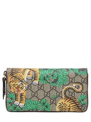 Gucci Bengal Gg Supreme Zip Around Wallet