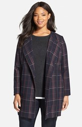 Plus Size Women's Sejour Plaid Zip Front Topper