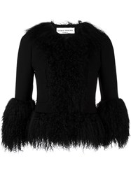 Sonia Rykiel Cropped Fur Jacket Black