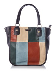 Ollie And Nic India Black Multi Patch Tote Bag