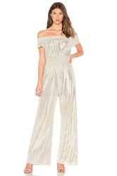 Line And Dot Liza Jumpsuit Metallic Silver