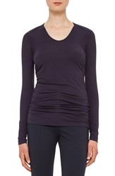 Akris Punto Women's Ruched Jersey Top
