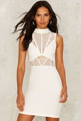 Rare London Get Off Of My Cloud Bodycon Dress White
