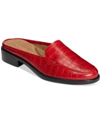 Aerosoles Best Wishes Mules Women's Shoes Red Croco