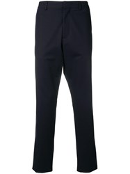 Moschino Slim Fit Tailored Trousers Blue