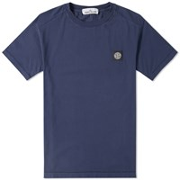Stone Island Patch Logo Tee Blue