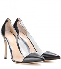Gianvito Rossi Leather And Transparent Pumps Black