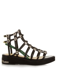 Toga Stud Embellished Caged Flatform Sandals
