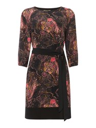 Biba Paisley Belted Tunic Dress Multi Coloured Multi Coloured