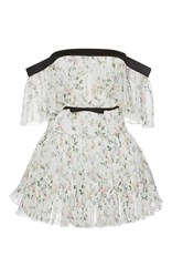 Giambattista Valli Floral Print Off The Shoulder Mini Dress