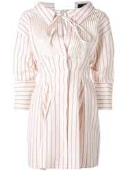 Jacquemus Striped Shirt Dress Nude Neutrals