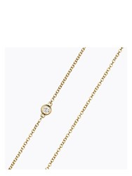 Loquet Diamond Necklace Gold
