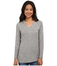 Bobeau Sweater Hoodie Heather Grey Women's Sweatshirt Gray