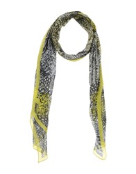 Roberto Cavalli Accessories Oblong Scarves Men Acid Green
