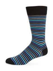 Marcoliani Multi Tone Pima Cotton Blend Striped Socks Red Green Blue