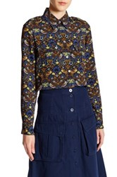 Marc By Marc Jacobs Scout Long Sleeve Button Up Shirt Blue